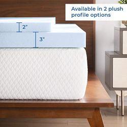 LINENSPA 2 Inch Gel Infused Memory Foam Mattress Topper, Twin