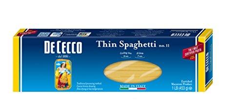 De Cecco Pasta, Thin Spaghetti, 1 lb (Pack of 5)