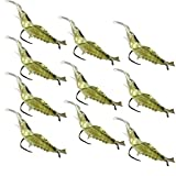 SHUDAGE Outdoor Fishing ღ 10pcs Shrimp Soft Prawn Lure Hook Tackle Bait Saltwater Bass Fishing Lures