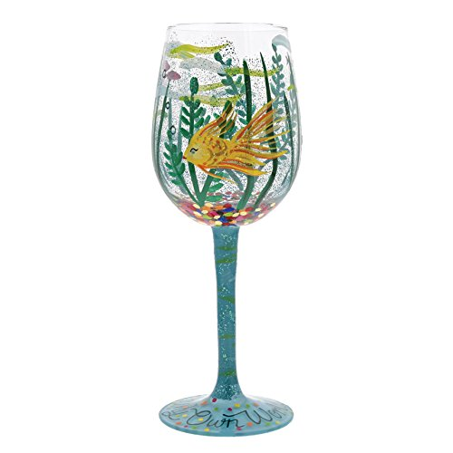 Designs by Lolita 'In My Own World' Hand-painted Artisan Wine Glass, 15 oz.