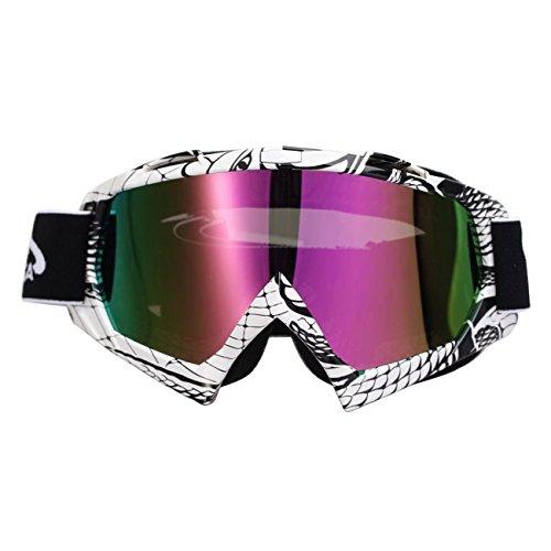 POSSBAY Foldable Goggles Motorcycle Motocross Dirt Bike ATV Anti-UV for Skiing Riding Cycling Unisex