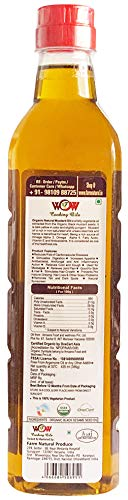 41ZRyseXAWL - WOW Cooking Oils Certified Organic Cold Pressed Black Mustard Seed & Sunflower Cooking Oil - 425 ml x 2 Combo with Free 55 GMS Raw Jamun Forest Honey