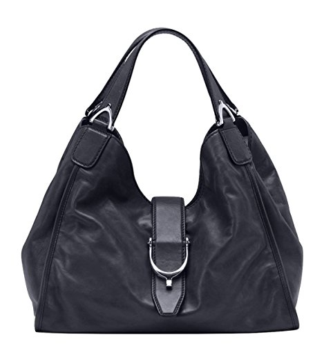 41ZV2iIe6OL Leather; Flap closure; Interior pocket Signature GG lining Measures: 14 L x 11.5 H x 7 D inches - Strap drop: 8 inches