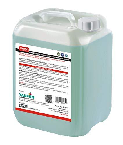 Heebo-Super-Concentrated-Germ-killer-Surface-Disinfectant-Sanitizer-Cleaner-5-LTR-Pack-of-1-Kills-999-Germs-Bacteria-Fogging-Misting-Instrument-Disinfection-Surface-Disinfection-Anti-Bacterial-Anti-Fu