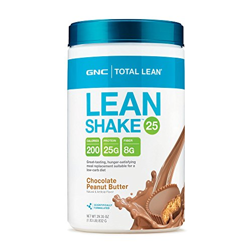 GNC Total Lean Meal Replacement Shake, Promote Lean Muscle Tone Metabolism, Chocolate Peanut Butter - 1.83 Pound