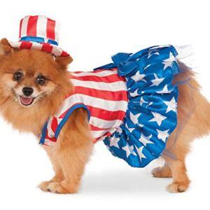4th of July Pet Costume, Rubies Collection Patriotic Pooch Girl 1
