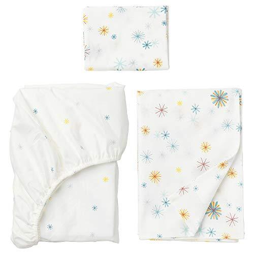 IKEA.. 903.637.70 Tillgiven 4-Piece Bedlinen Set for Crib, Multicolor