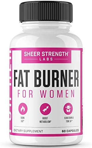 Thermogenic Fat Burner for Women - Triple-Strength Metabolism Booster, Appetite Suppressant & Carb Blocker - Natural Ingredients Support Healthy Weight Loss - 60 Diet Pills - Sheer Strength 1