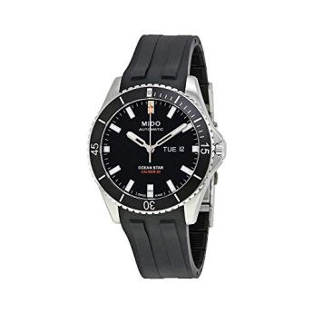 Mido Ocean Star Captain V M026.430.17.051.00 Black / Black Rubber Analog Automatic Men's Watch