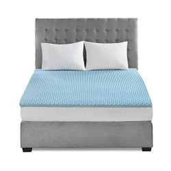 Sleep Philosophy Gel Infused Memory Foam Mattress Topper Luxurious Hypoallergenic All Season Enhanced Bed Support, Queen…