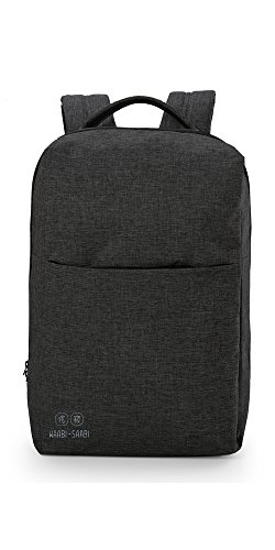 41ZhJjrcH1L - WAABI-SAABI Polyester Grey Laptop Backpack