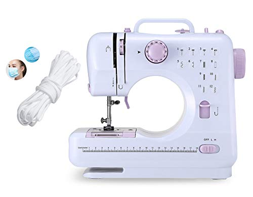 Portable-Sewing-Machine-for-Adult-Beginners-Electric-Household-Mini-Sewing-Machine-Tool-12-Built-in-Stitches-2-Speeds-Double-Thread-LED-Light-Thread-Cutter-and-Foot-Pedal-Included-for-DIYer