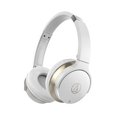 Audio-Technica SonicFuel ATH-AR3BT Wireless On-Ear Headphones with Mic (White)