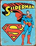 Poster Revolution MS1335 Superman Tin Sign 12 x 16in, Multi-Colored