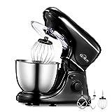 Stand Mixer Kealive 5-Quart Kitchen Mixer 8 Speed 700 Watt Dough Mixer with Stainless Steel Bowl, Dough Hooks, Whisk, Beater, Pouring Shield, Dough Mixer, Black