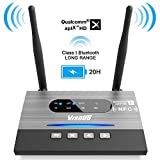 Visoud Bluetooth 5.0 Transmitter Receiver 3 in 1 Long Range Bluetooth Audio Transmitter for TV Home Stereo PC, Support aptX HD & aptX Low Latency, Dual Link, Optical RCA AUX 3.5mm, USB Rechargeable