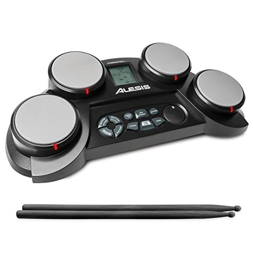Alesis CompactKit 4   Portable 4-Pad Tabletop Electronic Drum Kit with Drumsticks