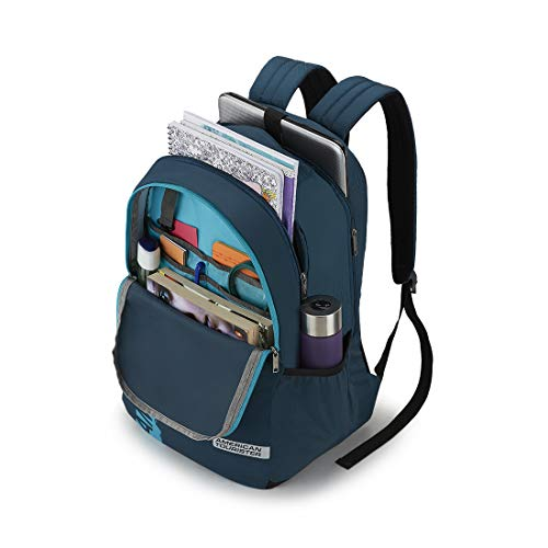 41ZzB7vv36L - American Tourister Spin 49 cms Teal Laptop Backpack (FS0 (0) 11 001)