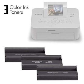 Canon-KP-108IN-KP108-Color-Ink-Paper-includes-108-Ink-Paper-sheets-3-Ink-toners-for-Canon-Selphy-CP1300-CP1200-CP910-CP900-cp770-cp760-Compact-Photo-Printers