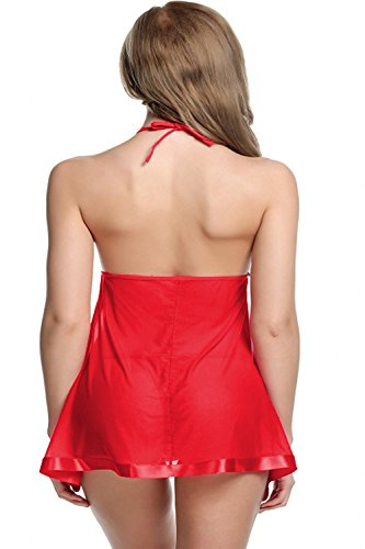 new blue eyes Women's Above knee Baby Doll (nbe-0142_Red_Free Size) TODAY OFFER ON AMAZON