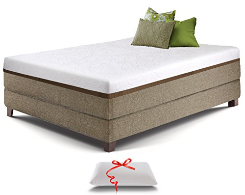 Live & Sleep Ultra Queen Mattress, Gel Memory Foam Mattress, 12-Inch, Cool Bed in a Box, Medium-Firm Advanced Support - Bonus Luxury Pillow - CertiPur Certified - Queen Size