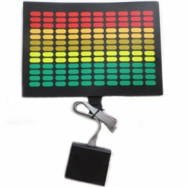 Sound Activated LED Dj Flashing Equalizer Panel with Sensor for Any Shirts