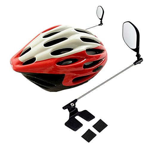 COM4SPORT 360°Rotated Adjustable Bike Helmet Rear View Mirror Safe riding for Adults & Kids