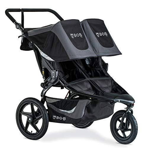 BOB Gear Revolution Flex 3.0 Duallie Double Jogging Stroller | Smooth Ride Suspension + Easy Fold + Adjustable Handlebar…
