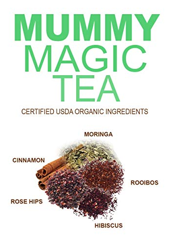 Mummy Magic Sweet Cinnamon & Moringa Detox Tea + 100% Organic + Supports Metabolism + Weight Loss for Women + Digestion with Rooibos Tea, 20 Biodegradable Sachets- Up to 40 Servings 3