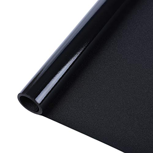 Rabbitgoo Blackout Window Film Privacy Window Cling Dark Window Tinting Film Non-Adhesive Window Sticker Light Blocking 17.5' x 78.7' (Matte Black)