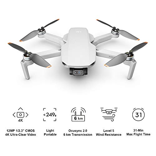 DJI-Mini-2-Fly-More-Combo-Ultralight-and-Foldable-Drone-Quadcopter-3-Axis-Gimbal-with-4K-Camera-12MP-Photo-31-Minutes-Flight-Time-OcuSync-20-HD-Video-Transmission-QuickShots-with-DJI-Fly-App