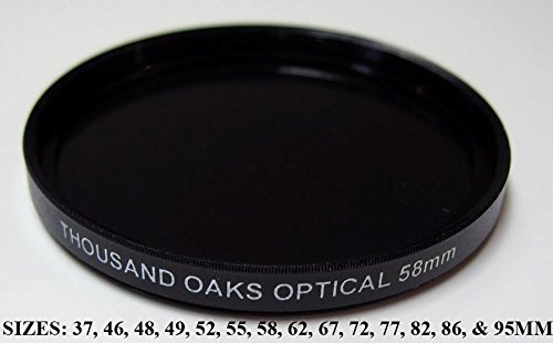 Threaded Black Polymer Solar Filter for Cameras, 55mm, SolarLite, Part #55T.
