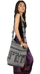 Tribe-Azure-Large-Hobo-Crossbody-Sling-Shoulder-Bag-Compartment-Pockets-Functional-Zipper-Travel-Market-Books-Blanket