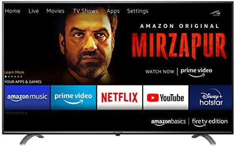 AmazonBasics 139cm (55 inches) Fire TV Edition 4K Ultra HD Smart LED TV AB55U20PS (Black)