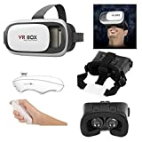 Virtual Reality Headset VR Box 2.0 3D Glasses for 3.5-6.0 inch Smartphone and Slide Window for Back Facing Camera: AR (Augmented Reality) Supported Apps Game Video Compatible with iPhone Android iOS