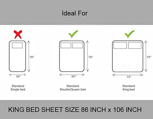41aOznItv8L - BhagwatiUdyog King Size Block Print Double Bedsheet Cotton with Pillow Cover