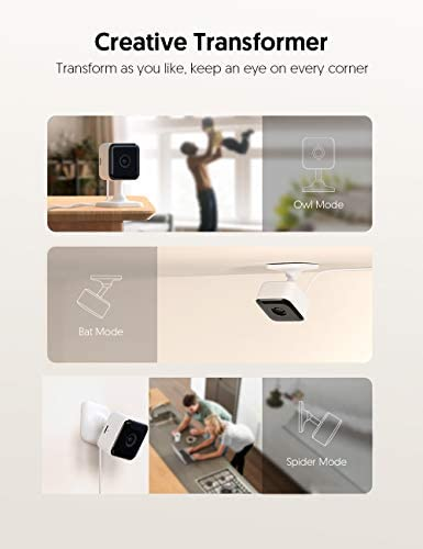 Teckin Cam 1080P FHD Indoor Wi-Fi Smart Home Security Camera with Night Vision, 2-Way Audio, Motion Detection, Omnidirection for Baby/Pet/Nanny/Elderly, Works with Alexa & Google Home, 2 Packs 15