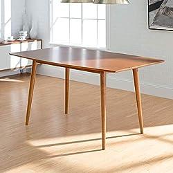 "WE Furniture 60"" Mid-Century Wood Dining Table - Acorn"