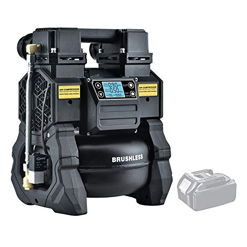 Tichop-Quiet-Portable-Air-CompressorCordless-Air-Compressor-with-DC-Power-Compatible-with-Makita-Batteryoil-free