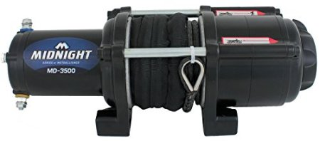 VIPER Midnight 3500lb ATV/UTV Winch Kit with 50 feet BLACK Synthetic Rope