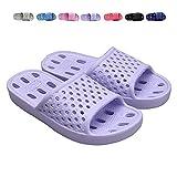 Bathroom Shower Shoes for Women Indoor Slippers Non Slip Sandals Swimming Beach Water Shoe(US 7-7.5 Women, Purple)