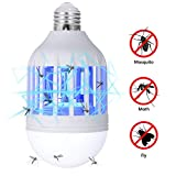 GLOUE Bug Zapper Light Bulb, 2 in 1...