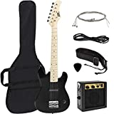 Best Choice Products 30in Kids 6-String Electric Guitar Musical Instrument Starter Kit w/ 5W Amplifier, Shoulder Straps, Nylon Carrying Bag, Strings, Picks - Black
