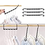 HOUSE DAY Magic Hangers Space Saving Clothes Hangers Organizer Smart Closet Space Saver with Sturdy Plastic for Heavy Clothes