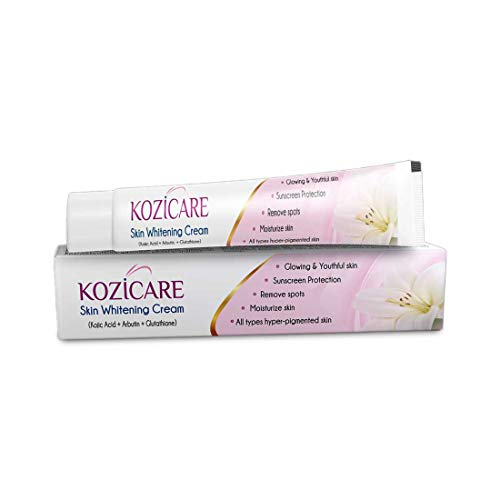 41ajVXoKjAL - Kozicare KoJic Acid, Arbutin,Glutathione Skin Whitening & Lightening Cream,15g