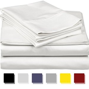 800 Thread Count 100% Egyptain Cotton Sheet Queen White Sheets Set, 4-Piece Long-Staple Combed Cotton Best Sheets for… 3