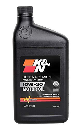 K&N Motor Oil: 0W-20 Full Synthetic Engine Oil: Ultra Premium Protection, 1 Quart