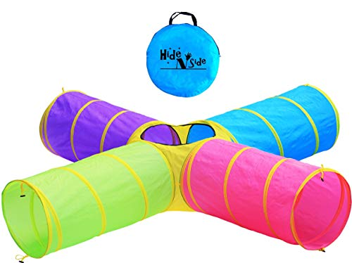 Hide-N-Side-Kids-Play-Tunnels-Indoor-Outdoor-Crawl-Through-Tunnel-for-Kids-Dog-Toddler-Babies-Children-Pop-up-Tunnel-Gift-Toy