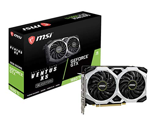 MSI GeForce GTX 1660 Ti Ventus XS 6G OC GDDR6 Gaming Graphic Card 187