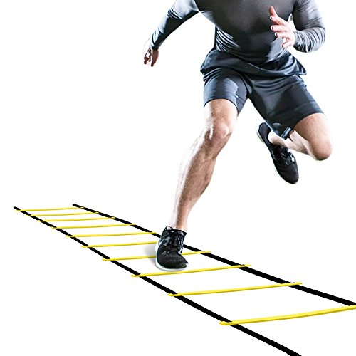 GHB Pro Agility Ladder Agility Training Ladder Speed Flat Rung with Carrying Bag 12 Rungs